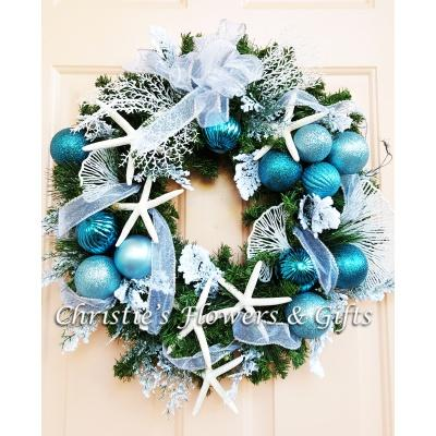 Hanukkah at the Beach Wreath