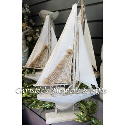 Wood and Canvas Sailboat Collection