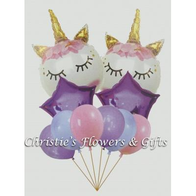 Unicorn Dreams Extra Large Balloon Bouquet With Flowers