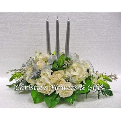 Silver Taper Centerpiece