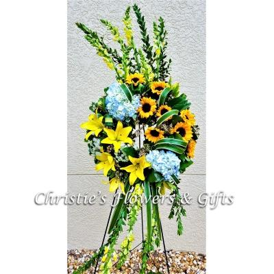 Sunshine Memory Wreath - Medium