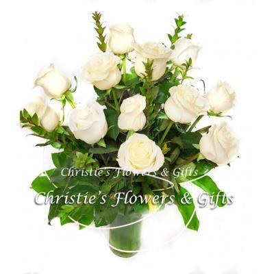 Precious Love - One Dozen Premium White Roses